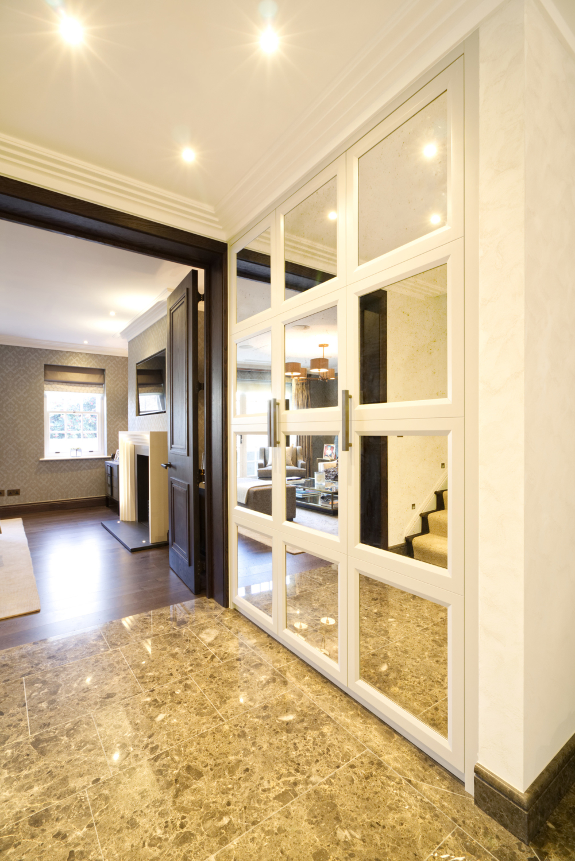 mirrored hall storage